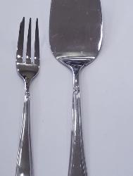 Set 12 forchettine dolce/aperitivo+ paletta in acciaio. Le perle.