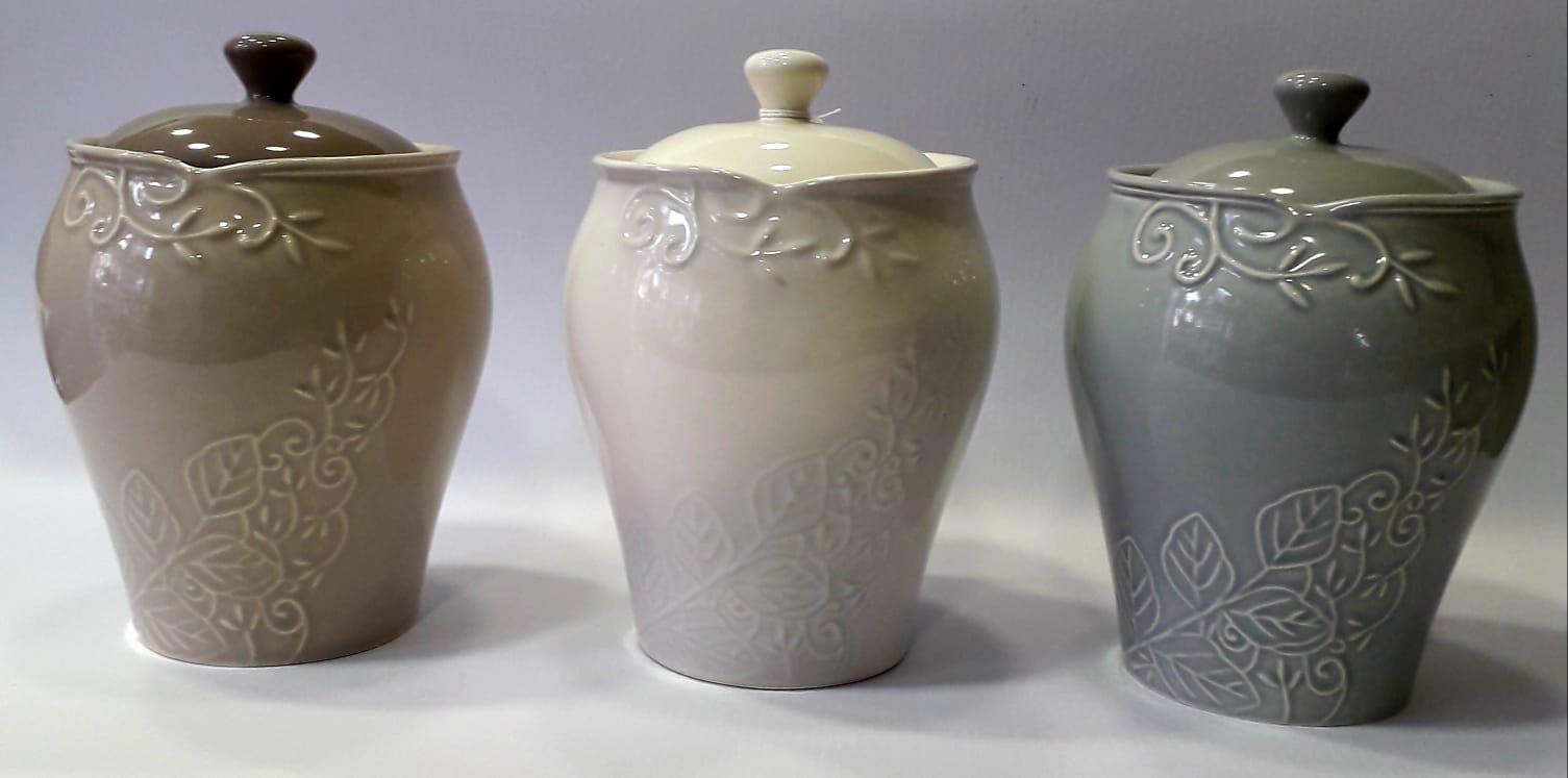 Set 3 barattoli in ceramica Kergress Wald
