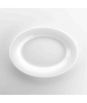 Piatto ovale in porcellana bianca Weissestal